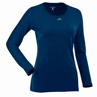 San Diego Chargers Womens Relax Long Sleeve Tee (Team Color: Navy)