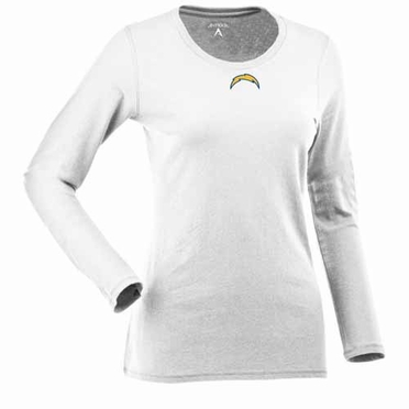 San Diego Chargers Womens Relax Long Sleeve Tee (Color: White)