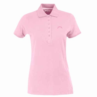 San Diego Chargers Womens Spark Polo (Color: Pink)