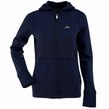 San Diego Chargers Womens Zip Front Hoody Sweatshirt (Team Color: Navy)