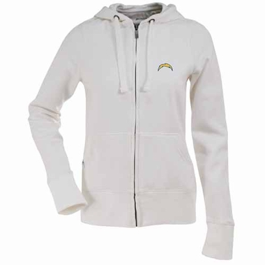 San Diego Chargers Womens Zip Front Hoody Sweatshirt (Color: White)