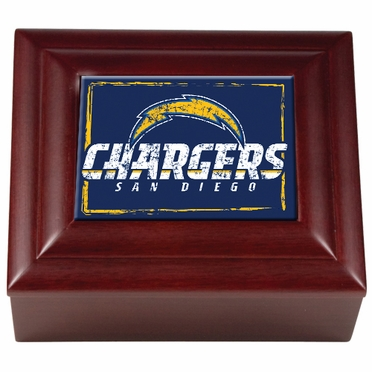 San Diego Chargers Wooden Keepsake Box