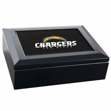 San Diego Chargers Wooden Keepsake Box (Black)