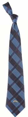 San Diego Chargers Woven Plaid Necktie
