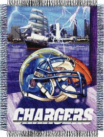 San Diego Chargers Woven Tapestry Throw Blanket