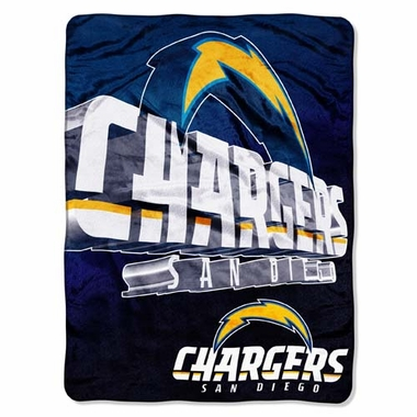 San Diego Chargers XL Micro Raschel Blanket
