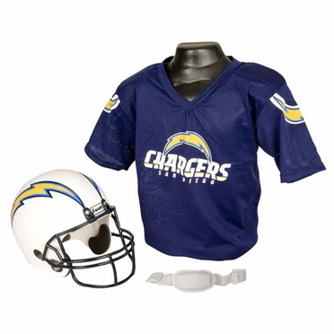 San Diego Chargers Youth Helmet and Jersey Set