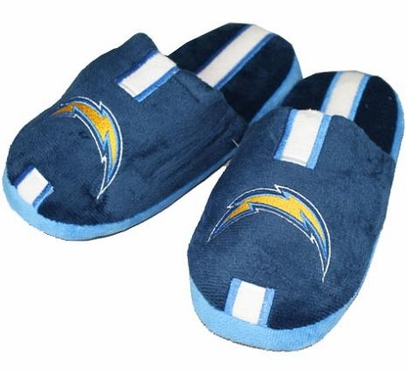 San Diego Chargers YOUTH Team Stripe Slide Slippers