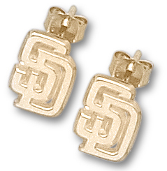 San Diego Padres 10K Gold Post or Dangle Earrings