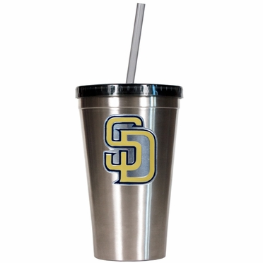 San Diego Padres 16oz Stainless Steel Insulated Tumbler with Straw