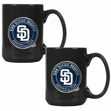 San Diego Padres 2 Piece Coffee Mug Set