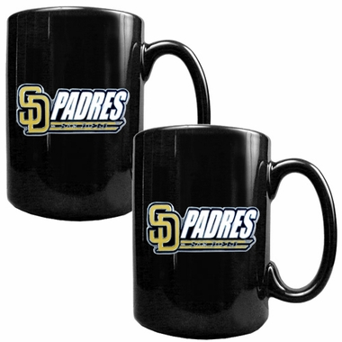 San Diego Padres 2 Piece Coffee Mug Set (Wordmark)
