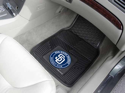 San Diego Padres 2 Piece Heavy Duty Vinyl Car Mats