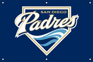 San Diego Padres 2 x 3 Horizontal Applique Fan Banner