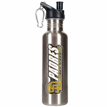 San Diego Padres 26oz Stainless Steel Water Bottle (Silver)