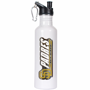 San Diego Padres 26oz Stainless Steel Water Bottle (White)