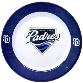 San Diego Padres 4 Piece Dinner Plate Set