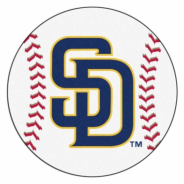 San Diego Padres 27 Inch Baseball Shaped Rug
