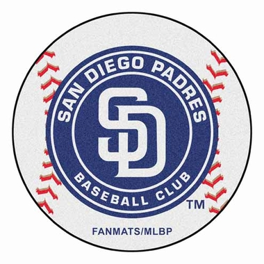 San Diego Padres Baseball Shaped Rug