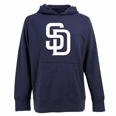 San Diego Padres Big Logo Mens Signature Hooded Sweatshirt (Team Color: Navy)