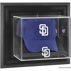 San Diego Padres Black Framed Wall Mounted Logo Cap Display Case