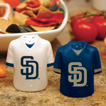 San Diego Padres Ceramic Jersey Salt and Pepper Shakers