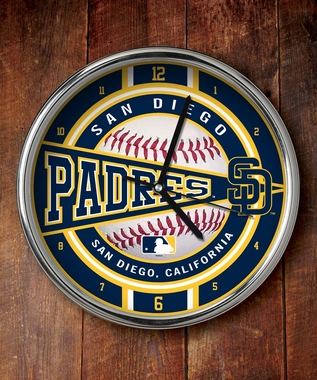 San Diego Padres Chrome Clock