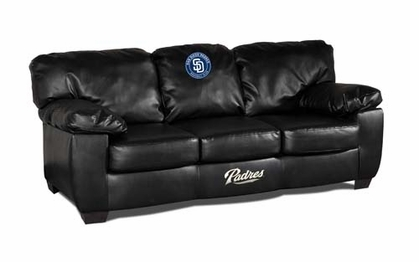 San Diego Padres Leather Classic Sofa