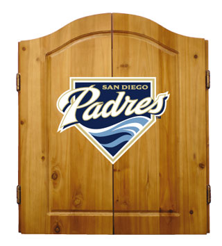 San Diego Padres Complete Dart Cabinet