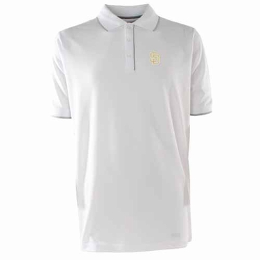San Diego Padres Mens Elite Polo Shirt (Color: White)