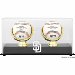 San Diego Padres Gold Glove Double Baseball Logo Display Case