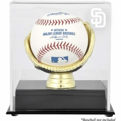 San Diego Padres Gold Glove Single Baseball Logo Display Case
