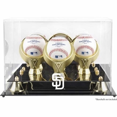 San Diego Padres Golden Classic Three Baseball Logo Display Case