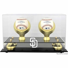 San Diego Padres Golden Classic Two Baseball Logo Display Case