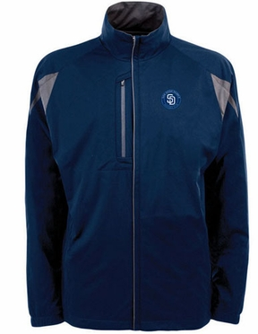 San Diego Padres Mens Highland Water Resistant Jacket (Team Color: Navy)