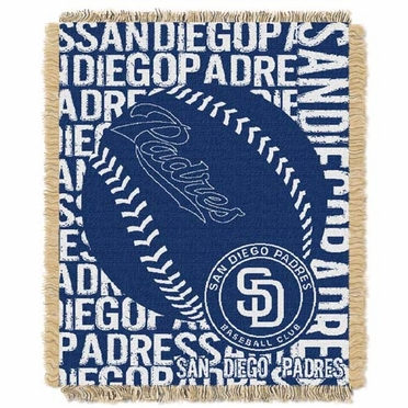 San Diego Padres Jacquard Woven Throw Blanket