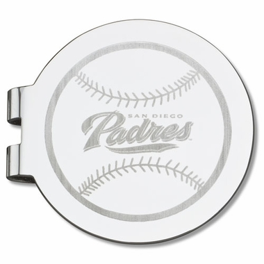 San Diego Padres Laser Engraved Money Clip