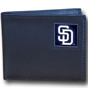 San Diego Padres Leather Bifold Wallet (F)
