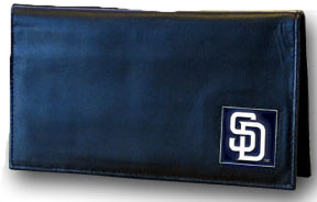 San Diego Padres Leather Checkbook Cover (F)