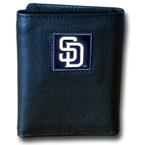 San Diego Padres Leather Trifold Wallet (F)