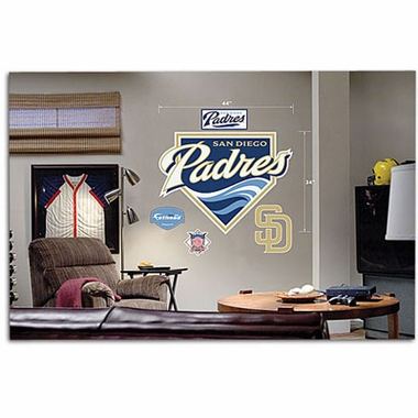 San Diego Padres Logo Fathead Wall Graphic