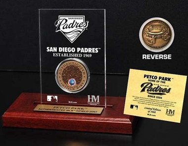 San Diego Padres Petco Park Infield Dirt Coin Etched Acrylic