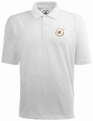 San Diego Padres Mens Pique Xtra Lite Polo Shirt (Cooperstown) (Team Color: White)