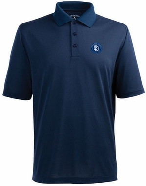 San Diego Padres Mens Pique Xtra Lite Polo Shirt (Team Color: Navy)
