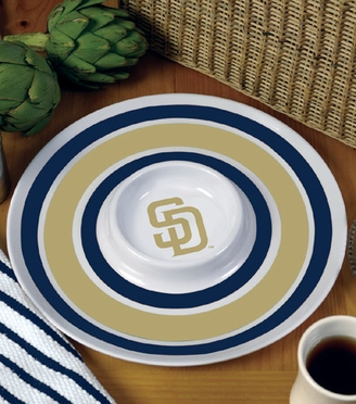 San Diego Padres Plastic Chip and Dip Plate