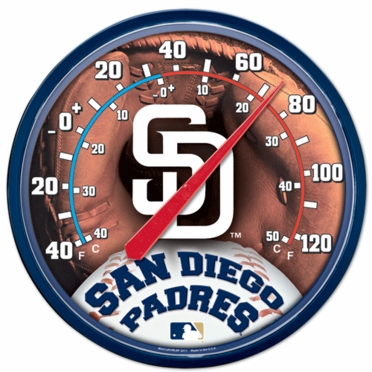 San Diego Padres Round Wall Thermometer