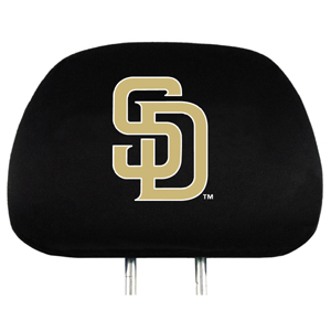 San Diego Padres Set of Headrest Covers