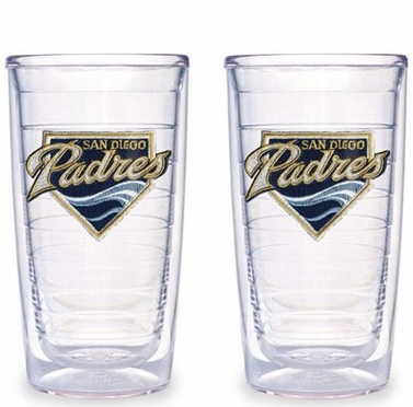 San Diego Padres Set of TWO 16 oz. Tervis Tumblers