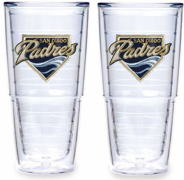 "San Diego Padres Set of TWO 24 oz. ""Big T"" Tervis Tumblers"
