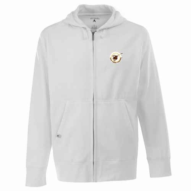San Diego Padres Mens Signature Full Zip Hooded Sweatshirt (Cooperstown) (Team Color: White)